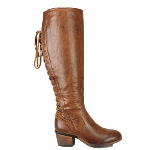 Fashion Women Flats Punk Slouch Long Boots Pointed Toe Knee High Roman Shoes