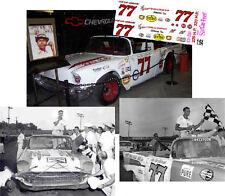 CD_2067 #77 Joe Lee Johnson '57  Chevy  1:64 decals   ~OVERSTOCK~