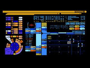 Framed-Print-Star-Trek-Engineering-Control-Panel-Picture-Poster-Art-Voyager
