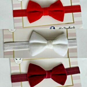Velvet-Bow-Baby-Girl-Headband-Red-Burgundy-Glitter-Christmas-Headbands-Lot