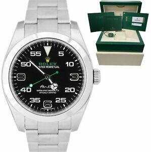 2018 MINT Rolex Air-King 40mm Green Black Stainless Steel Arabic 116900 Watch BP