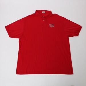 Hane-039-s-YMCA-STAFF-RED-POLO-SHIRT-VINTAGE-OLD-SCHOOL-MEN-039-S-SIZE-XL