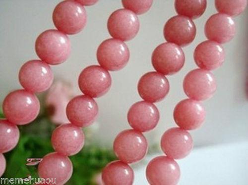 6mm Round Rhodochrosite Gemstone Loose Beads 15/'/'