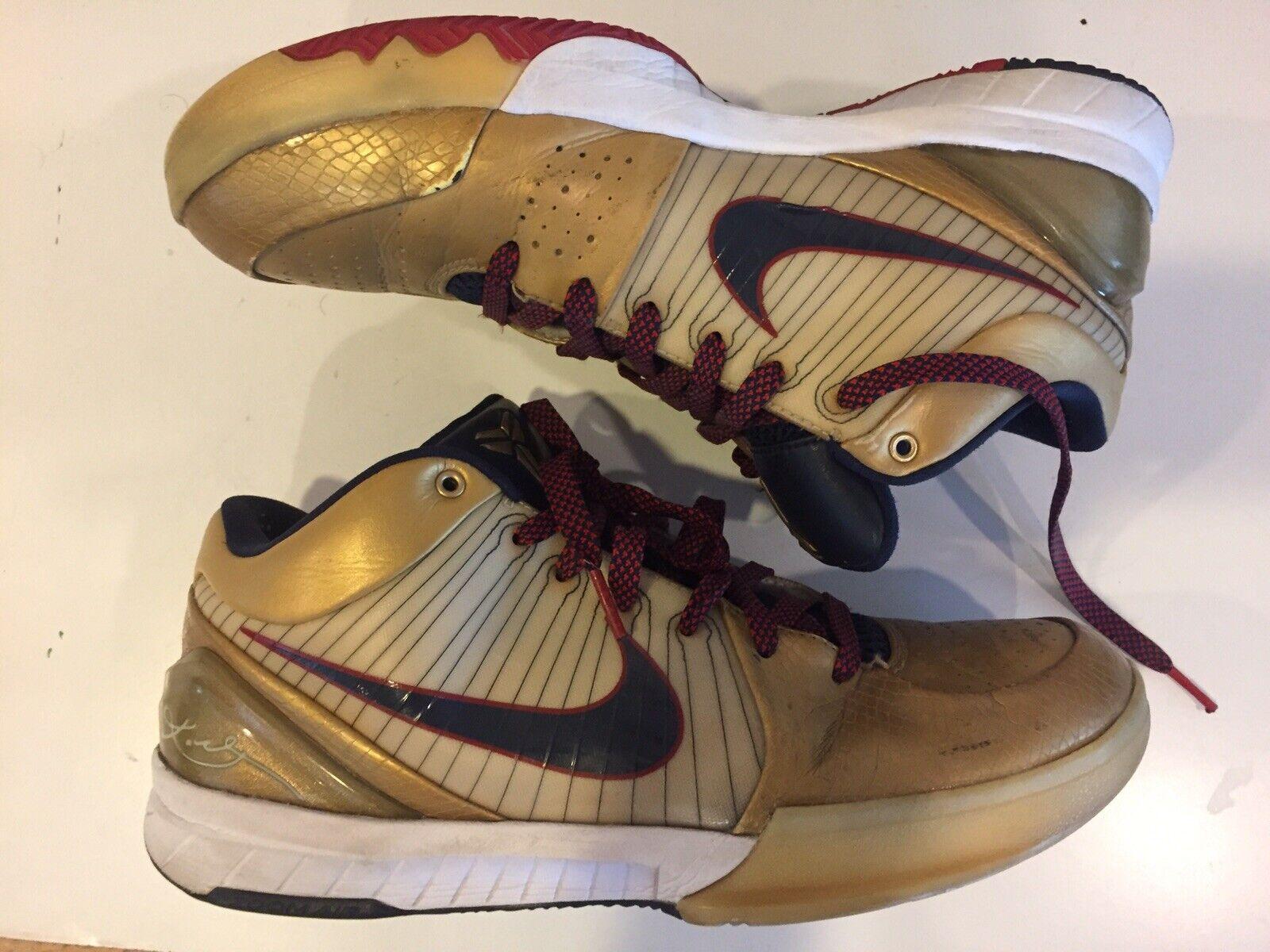 Nike Zoom Kobe IV 4 - gold Medal   Olympic Size 9.5