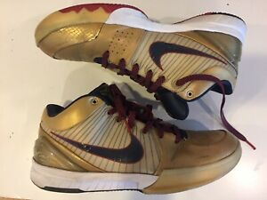 factory price 3bd3a b88a7 Image is loading Nike-Zoom-Kobe-IV-4-Gold-Medal-Olympic-