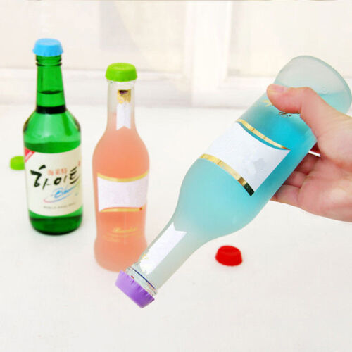 Silicone Bottle Caps Beer Wine Sealer Cover Cork Reusable Stopper Tool 6 Pcs