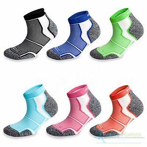 3 Pairs More Mile Cushioned COOLMAX Sports Running Socks Mens Ladies