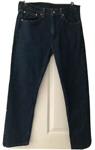 Levis-505-Regular-Fit-Jeans-Medium-Blue-Straight-Leg-34-x-30