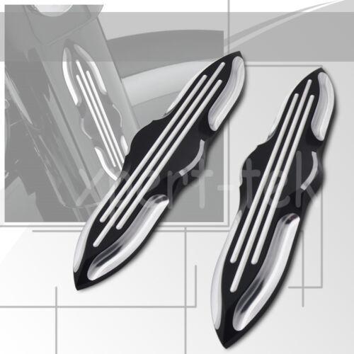 Deep Cut Upper Fork Slider Covers Medallions for Harley Touring FLST FLSTC FLSTF