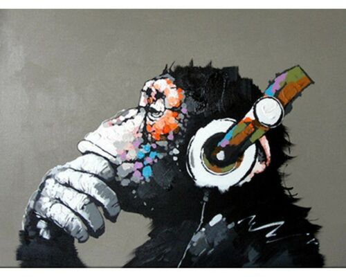 Paint By Numbers Funky Monkey 40CMx50CM Canvas
