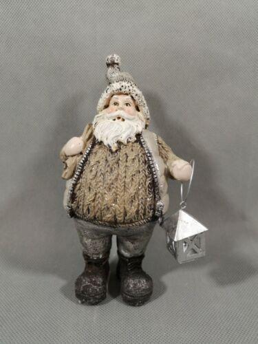 Nikolaus mit Laterne NEU 15 cm