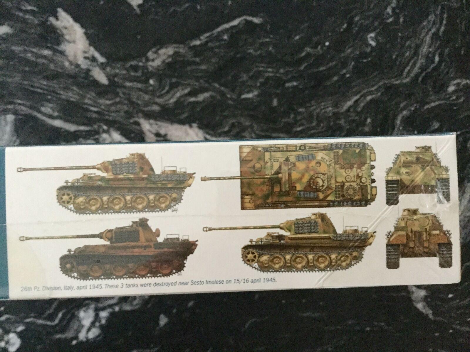 ITALERI 1 35 WW II II II GERMAN PZ. KPFW. V  PANTHER  AUSF G TANK MODEL KIT F S 60f65e
