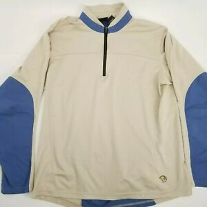 Mountain-Hardwear-Mens-sz-XL-Long-Sleeve-1-4-Zip-Polyester-Pullover-Shirt-Jacket