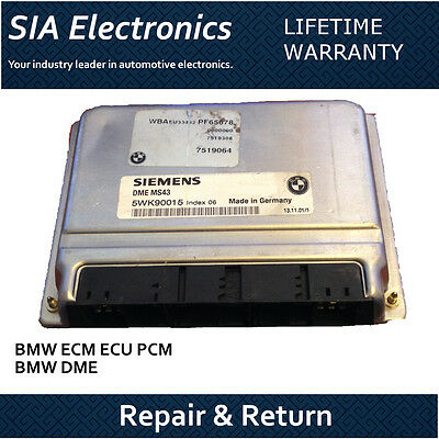 01-05 BMW 325 ECU ECM PCM Engine Control Module Repair /& Return BMW ECM Repair