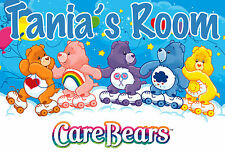 149 - CARE BEARS CUTE NAME PERSONALIZED DOOR WALL ROOM POSTER CUSTOMIZED