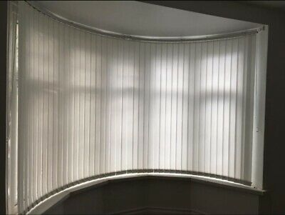 Curved Vertical Blinds Track Rail Headrail Bow Window Ebay
