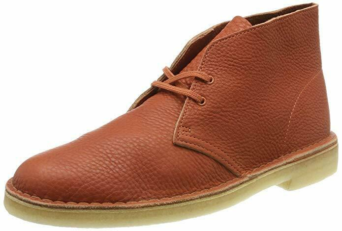 Clarks ORIGINALS Desert Boots Mens Burnt Orange Leather Size 12 UK NEW RRP
