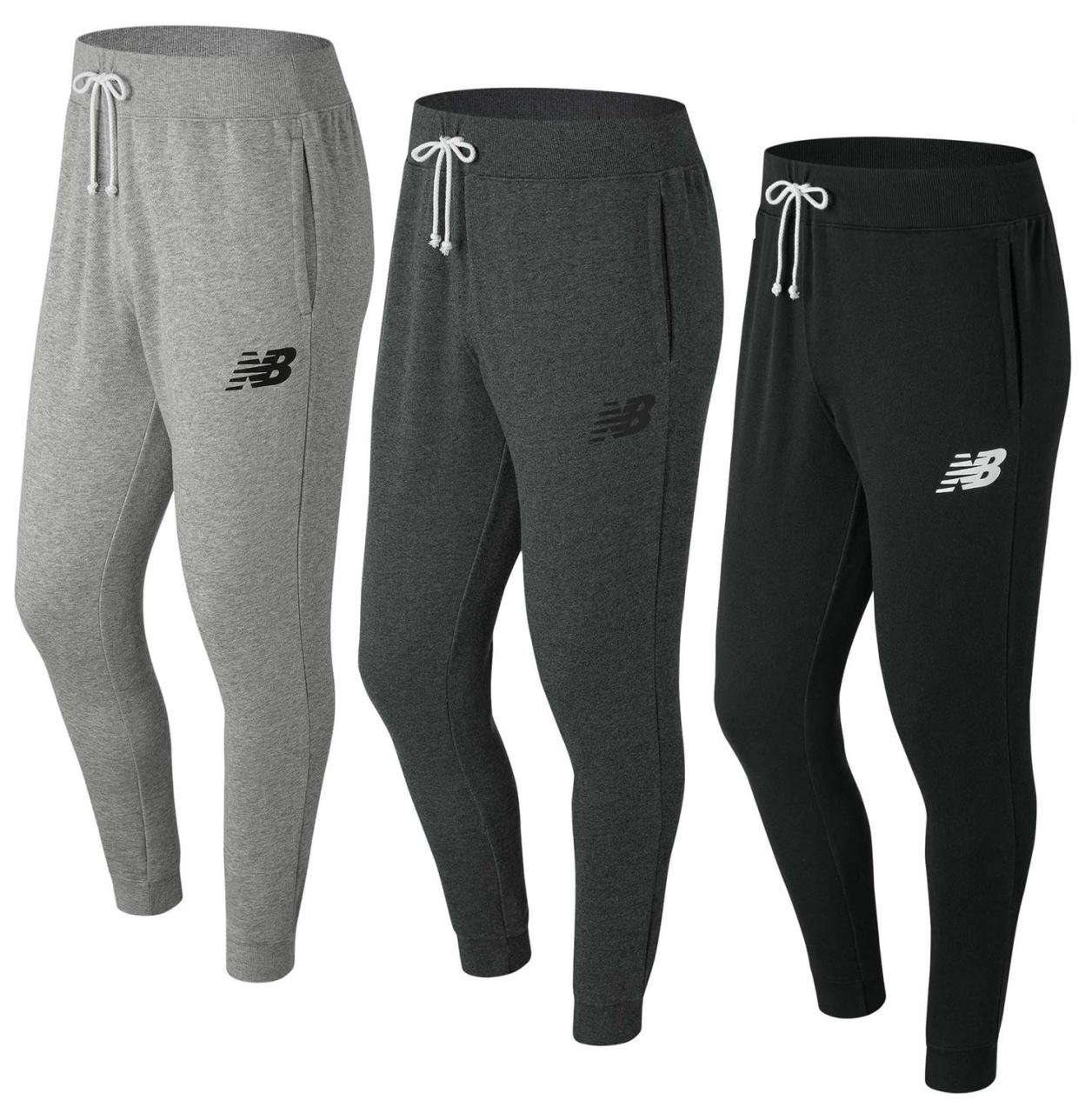 NEW Balance Allenamento Pantaloni Jogging Pantaloni Pantaloni Sportivi Pantaloni Da Uomo Fitness Slim 2054