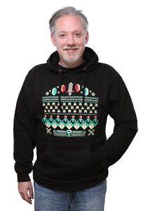 Video Game Ugly Christmas Sweater Hoodie Sweatshirt Tetris Zelda