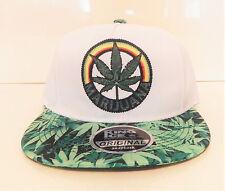 men womens weed cannabis snapback caps hat dope peak baseball marijuana logo
