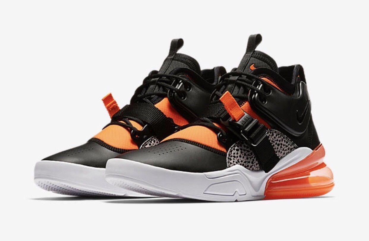 Nike Air Force 270 Safari Black orange Feel Big Air Size 8 Limited Yeezy rare