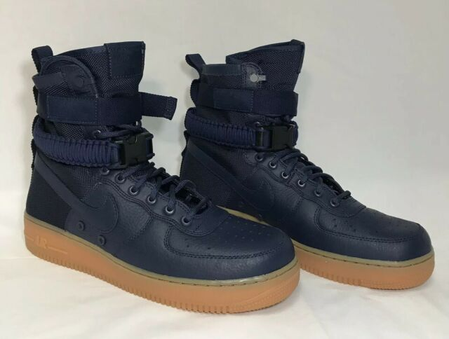 efaeee68361e7 Nike SF AF1 Special Field Air Force 1 Hi Midnight Blue Gum Sneaker Boots size  10
