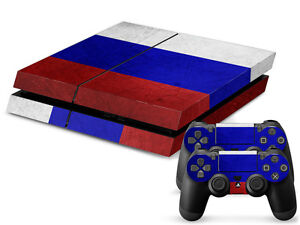 Faceplates, Decals & Stickers Sony Ps4 Playstation 4 Skin Design Aufkleber Schutzfolie Set Russia Motiv To Rank First Among Similar Products Video Game Accessories