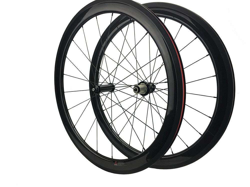 Straight Pull 50mm Carbon Clincher Road Bike Wheelset Powerway R36 23mm Width