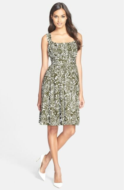 412ad81b94dd2 KATE SPADE NEW YORK 'Orchid' Ruched Sundress Havana Cotton Dress Size 2 ...