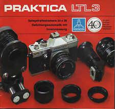 DRESDEN, Werbung 1975, Spiegelreflexkamera PRAKTICA LTL 3