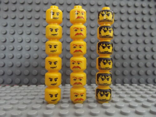 Brand New Lego Mini Figure Heads 3 Different Patterns Select Number You Require