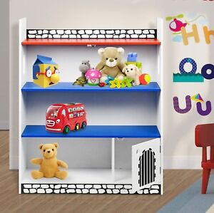 Image Is Loading Kids Childrens Wooden Castle Bookcase Shelf Storage Rack