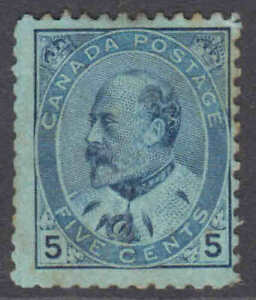 Canada 1903: King Edward VII #91b, whiter paper variety, part gum with toning