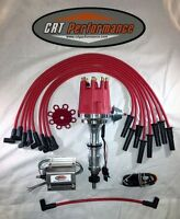 Ford Fe Pro Series 352-390-427-428 Hei Distributor Red + 50k Coil + Plug Wires