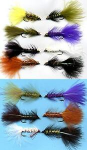 Twelve-NEW-Woolly-Bugger-Fly-Fishing-Flies-Choose-Quantity-Color-and-Variation