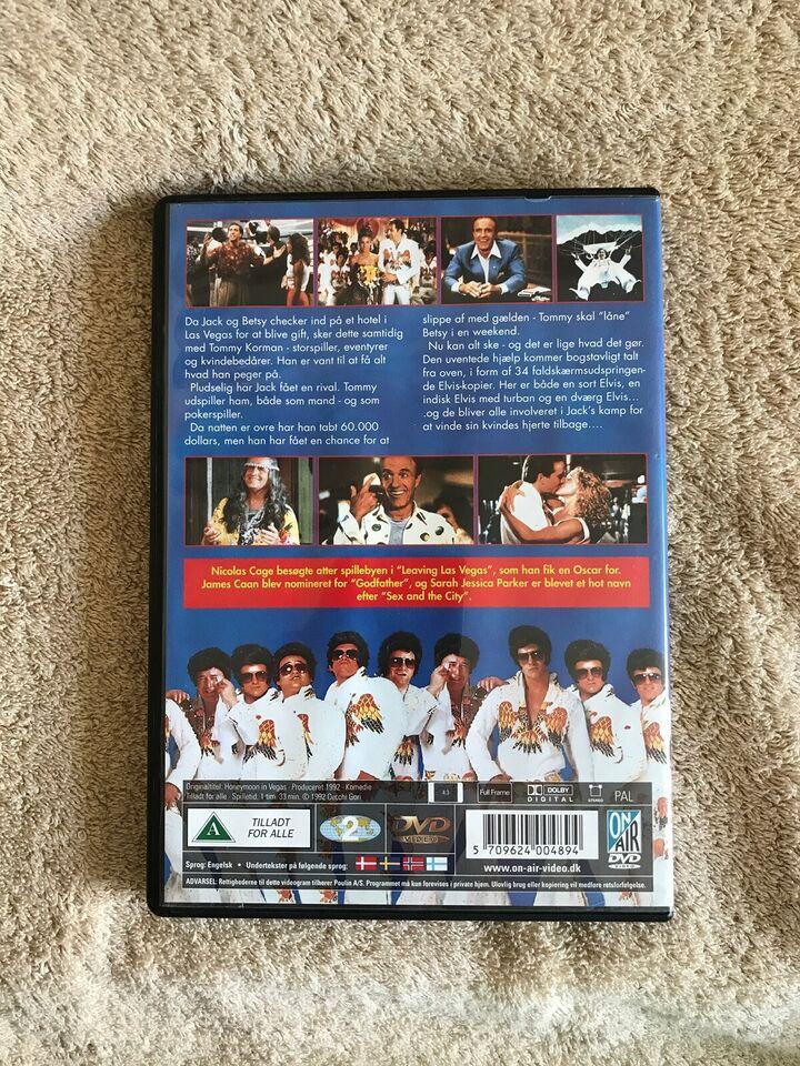 Honeymoon Las vegas , DVD, komedie