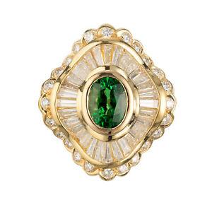 GIA-Certified-1-38-Carat-Tsavorite-Garnet-Diamond-18k-Yellow-Gold-Ring