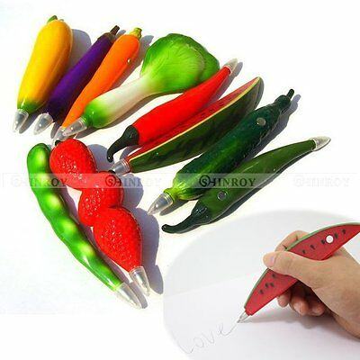 Applied Style Fruit Vegetable Shaped Pen Refrigerator ball point pen