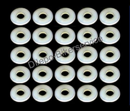 25 Stück ähnl Ø 12 x 5,2 x 1 DIN125 Kunststoff Scheibe Farbe natur 5,2 mm M5