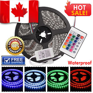 Waterproof 12V 300 SMD LED Strip Flexible Light Strip 5050 RGB + 24 Key Remote