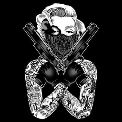 Marilyn Guns Gangster Hoodie Sweatshirt Pistols Crossed Tattoo Hooded Monroe wwgqvBF