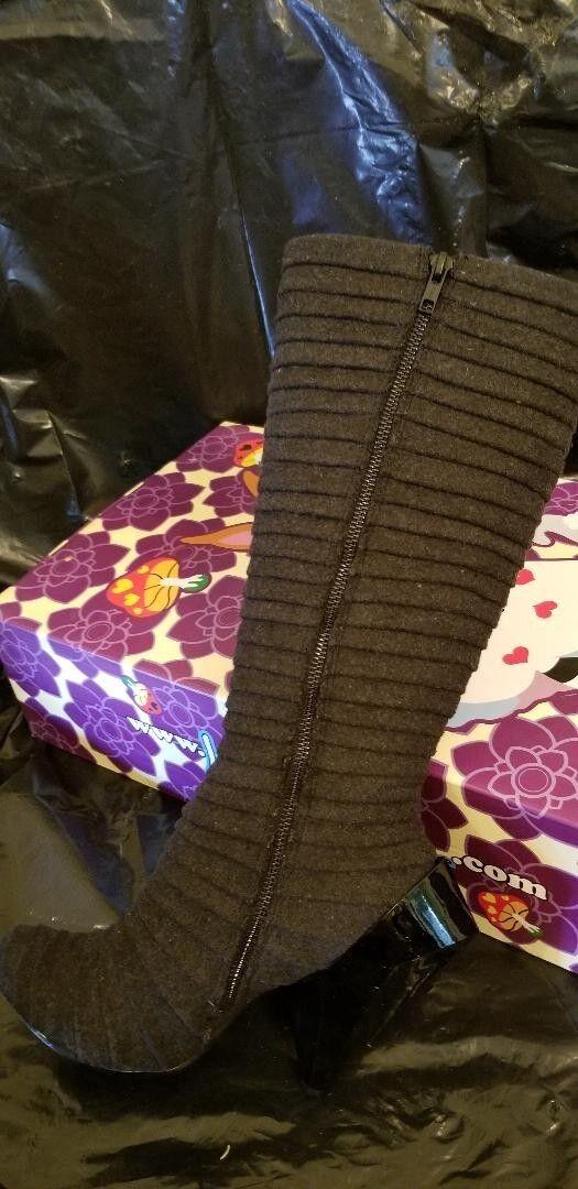Irregular Choice -SAZZLE - schwarz Stiefel - US Größe 7 7 7 Euro Größe 38 240818