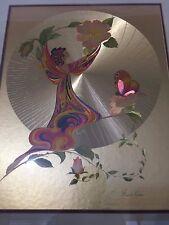 "Vintage Michelle Emblem ""Rose Nymph"" Original Foil & Hand Painted Art, Signed"