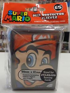 Magic-Pokemon-Force-of-Will-65-Bustine-Buste-Protettive-Sleeves-Deck-SUPER-MARIO