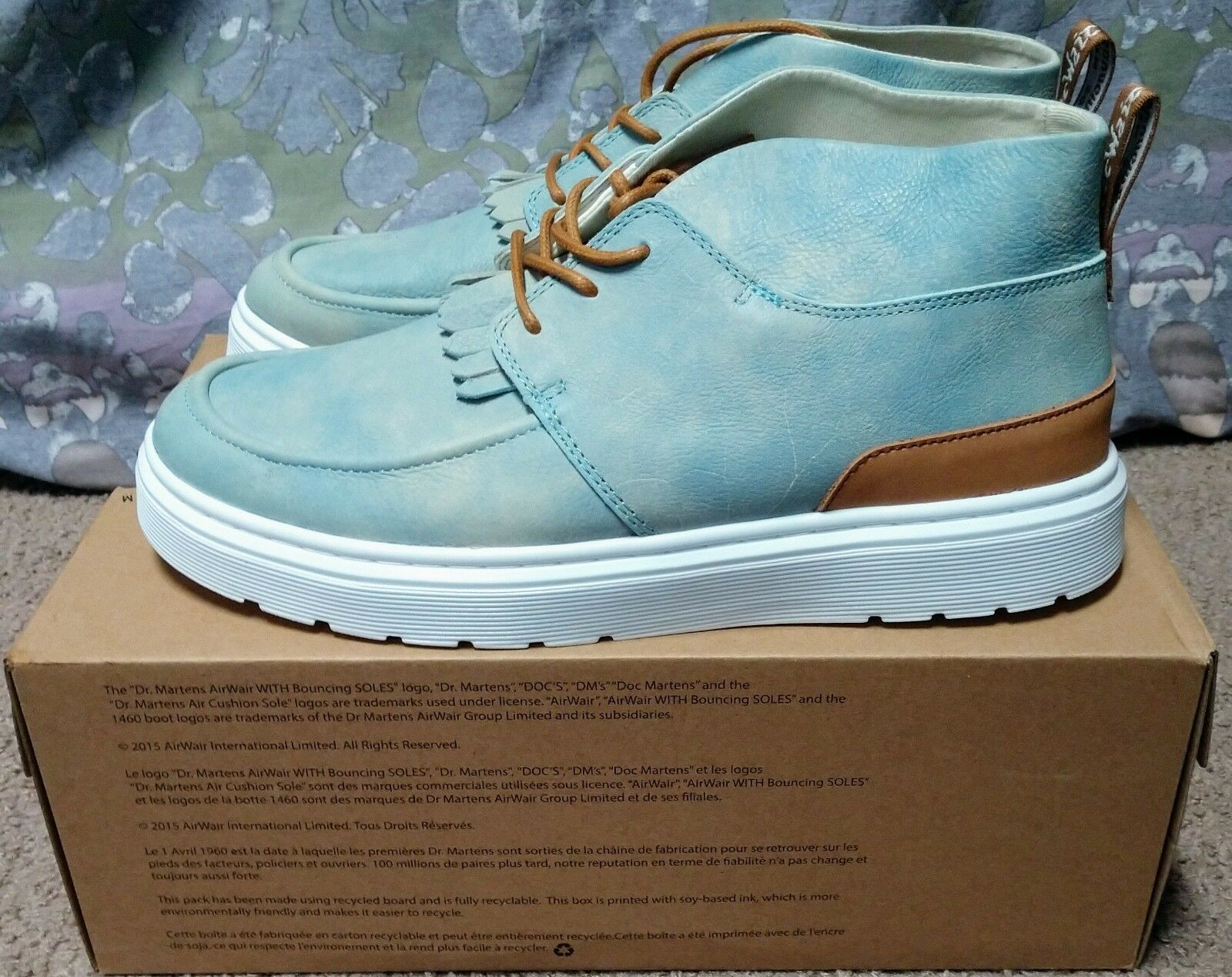 Dr. Martens Jemima bluee leather chukka boots size womens 11 (runs large)