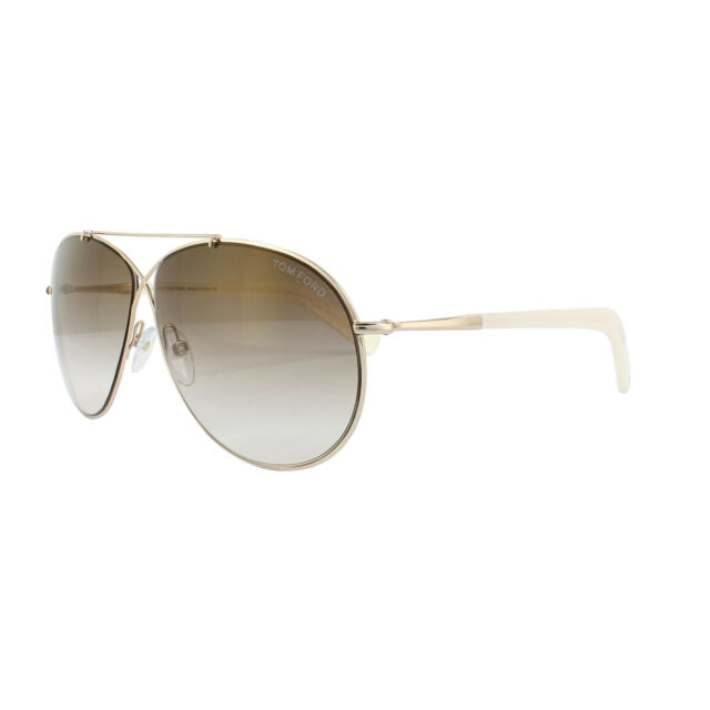 Tom Ford Sunglasses 0374 Eva 28G Shiny Rose Gold Brown Mirror