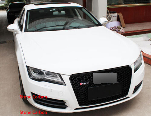 RS Style Black Grille Grill For 2013 13 14 15 Audi A7 S7 With Camera Holder