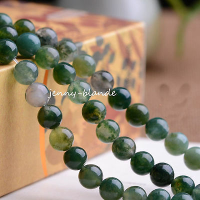 Wholesale Jade Natural Gemstone Stone Loose Spacer Beads 4//6//8//10mm Findings DIY