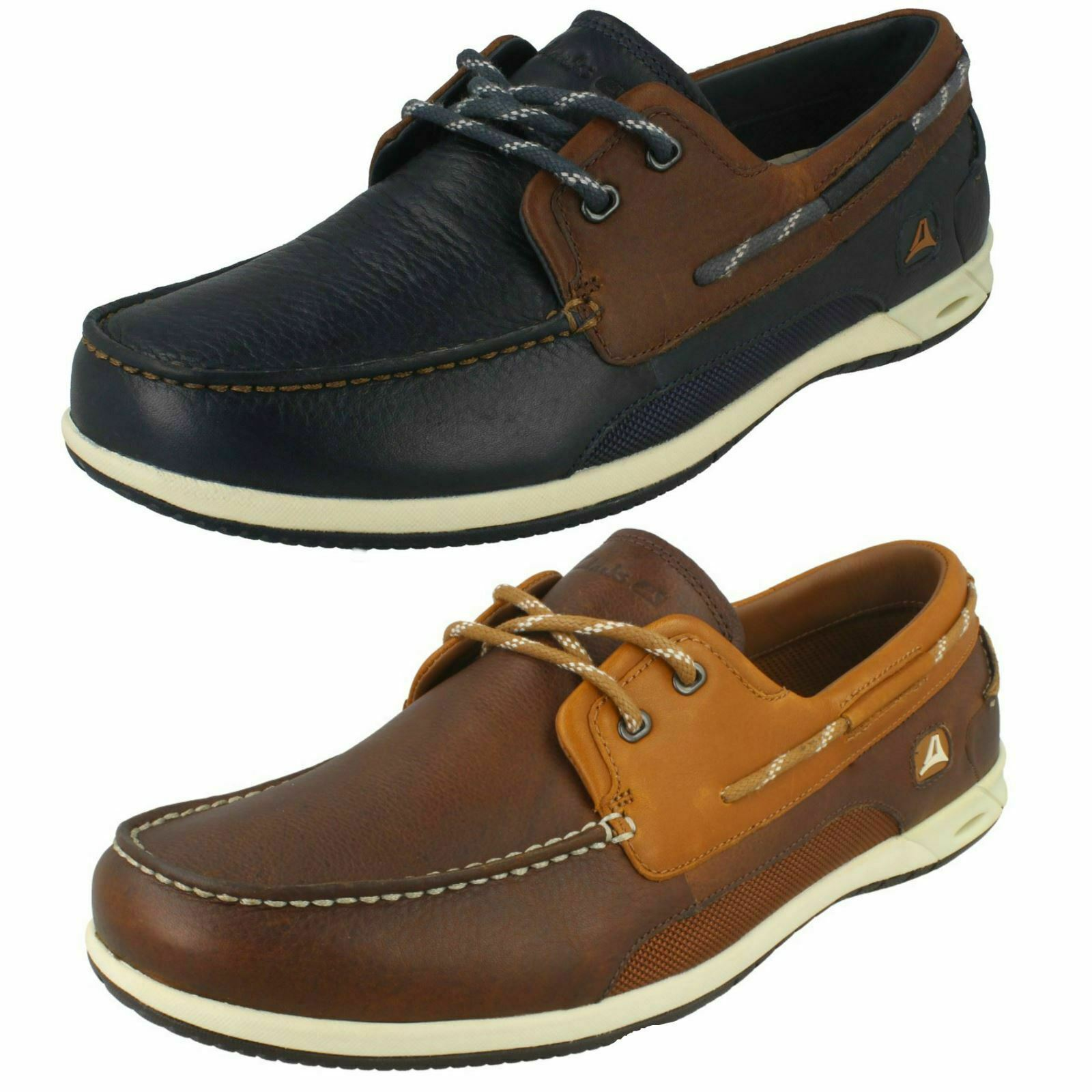 MENS CLARKS ORSON HARBOUR DRESS SUMMER LACE UP BOAT SHOES STYLE