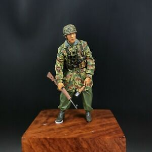 wsh18 German paratrooper with wheelbarrow 1944-resin figurine wolf 1//35 ref